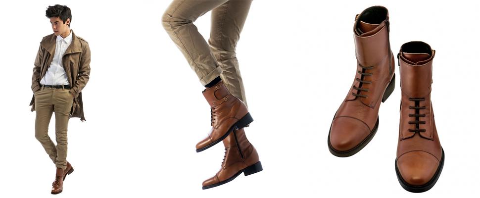 scarpe rialzate cammello