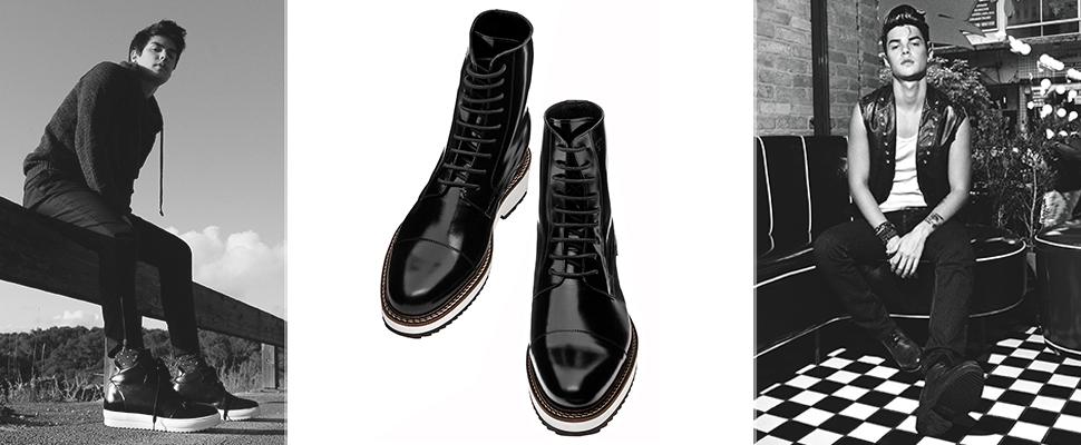 scarpe rialzate total black