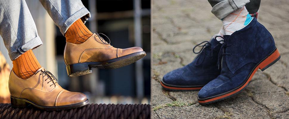 scarpe rialzanti e calzini