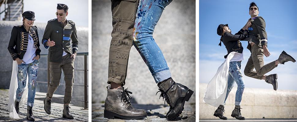 scarpe rialzate con risvoltino