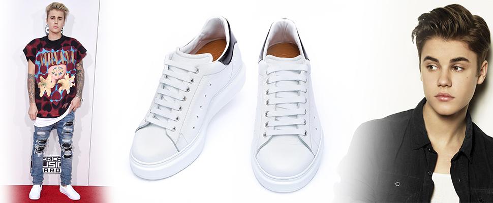 justin bieber scarpe rialzate
