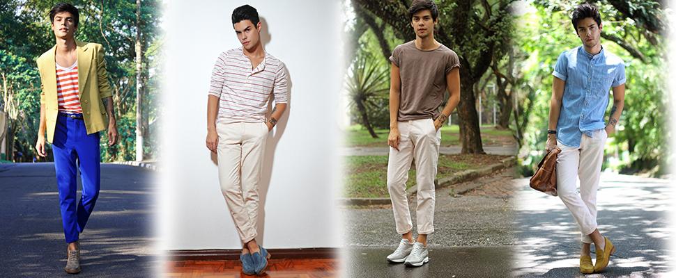 scarpe rialzate. La moda dei pantaloni con il risvolto si è imposta con  forza sulle passerelle e nelle boutique 4e4a2cfc10a