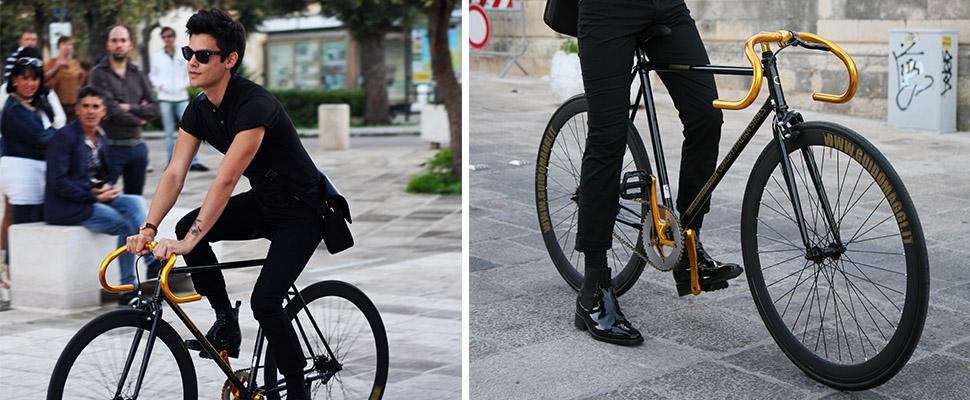 scarpe rialzate bicicletta
