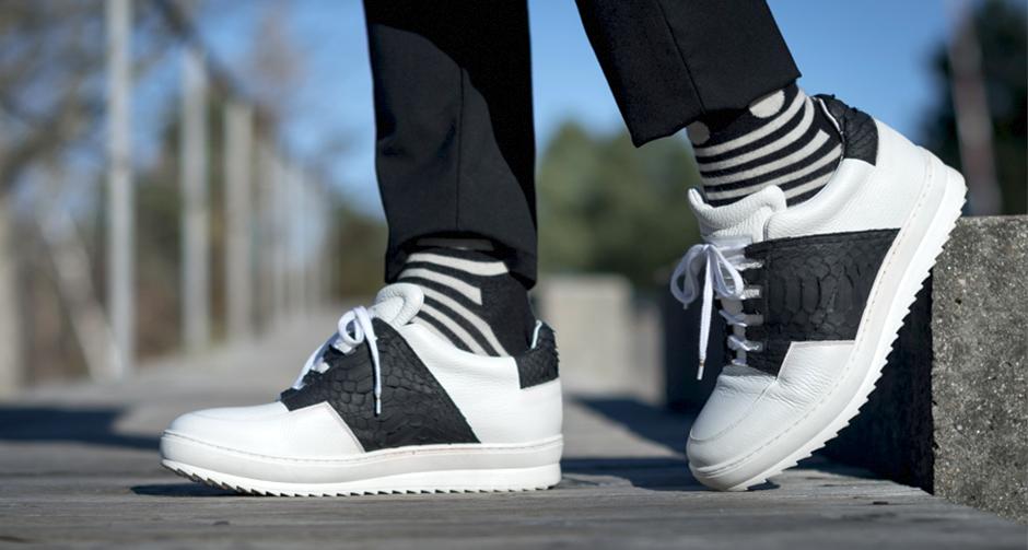 sneakers con rialzo di lusso