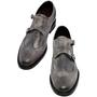scarpe doppia fibbia con rialzo