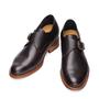 scarpe fibbiate con rialzo