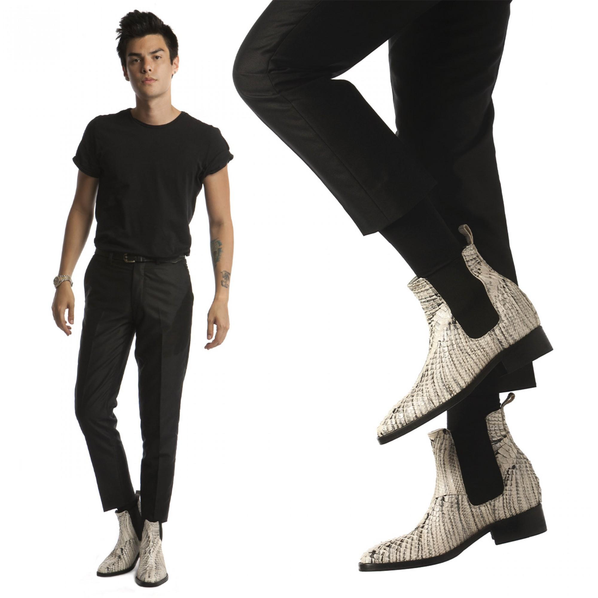scarpe tacco uomo