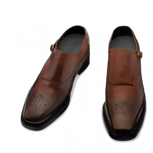 scarpe fibbia con rialzo